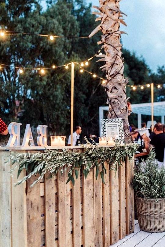 beach wedding reception bar ideas