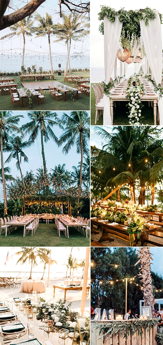 beach wedding reception decoration ideas for 2020