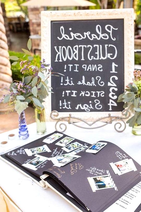 Polaroid wedding guest book ideas