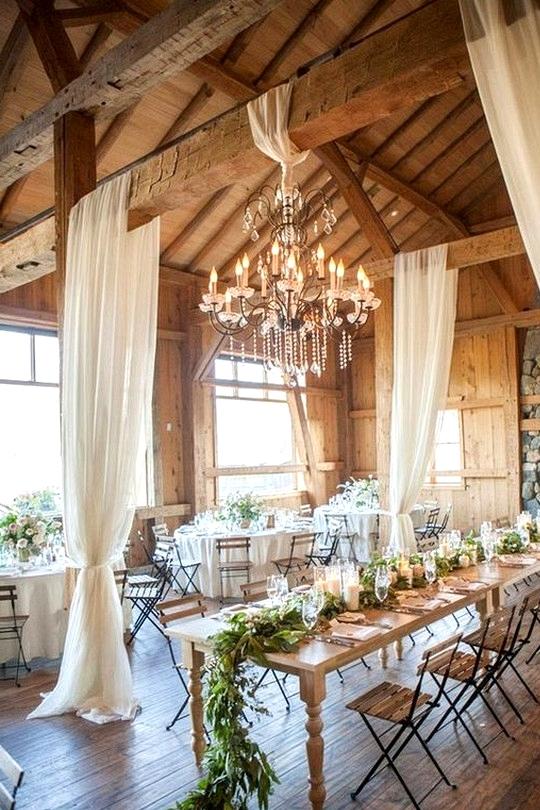 country barn wedding reception ideas