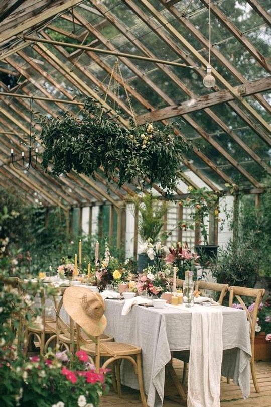 garden themed wedding reception ideas