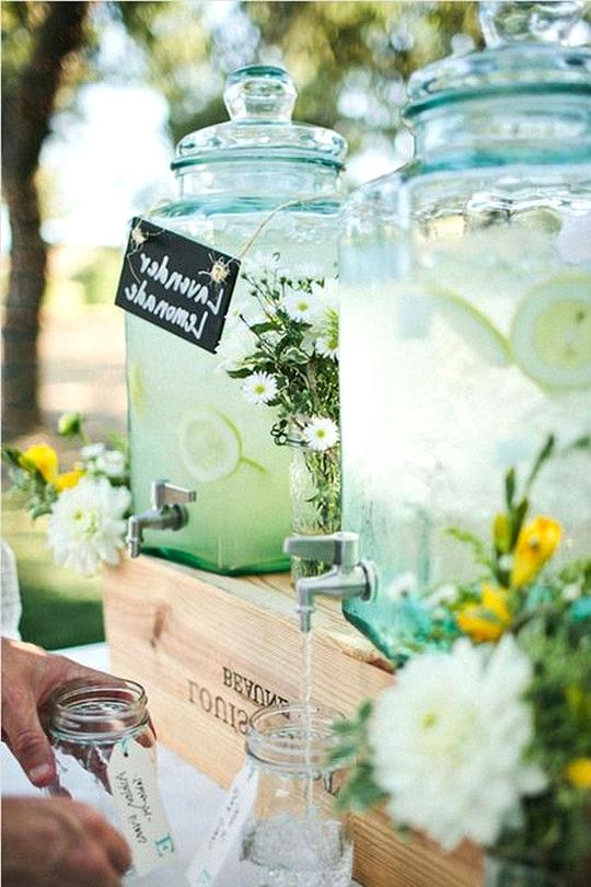 garden wedding drink station ideas