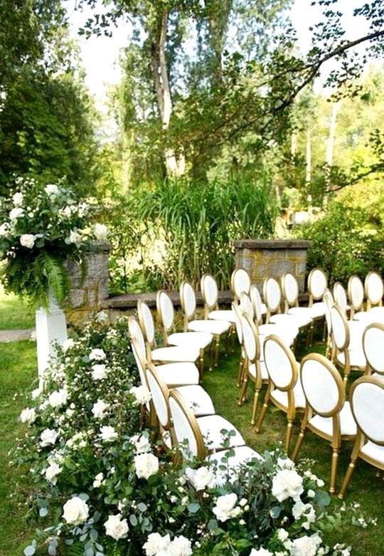 garden wedding ceremony decoration ideas