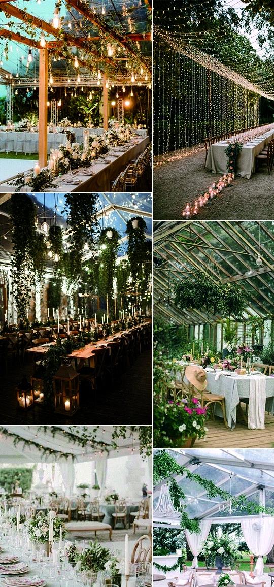 garden themed wedding reception decoration ideas