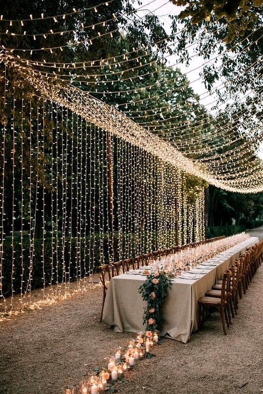 outdoor wedding reception lighting ideas