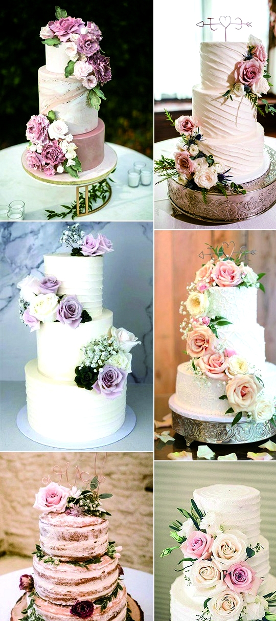 trending floral wedding cakes