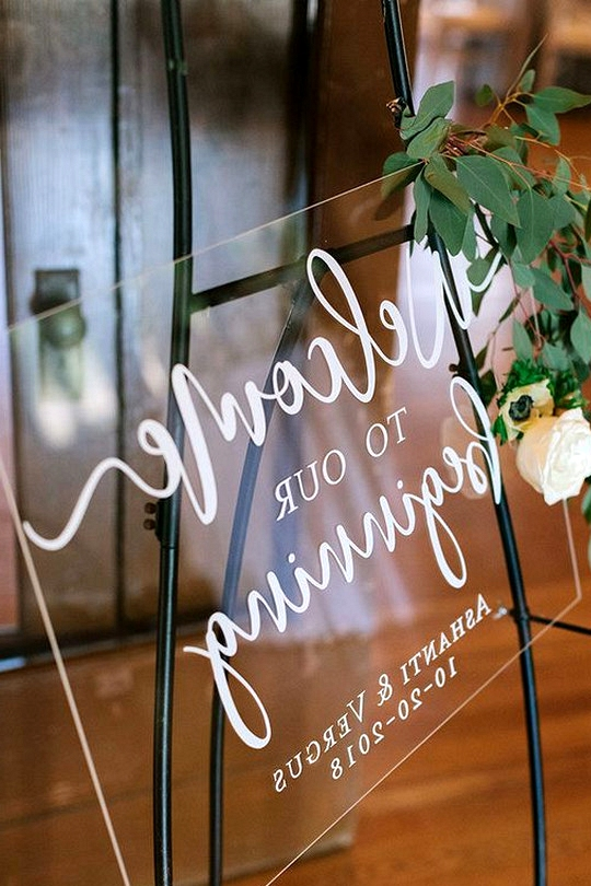 simple modern wedding welcome sign