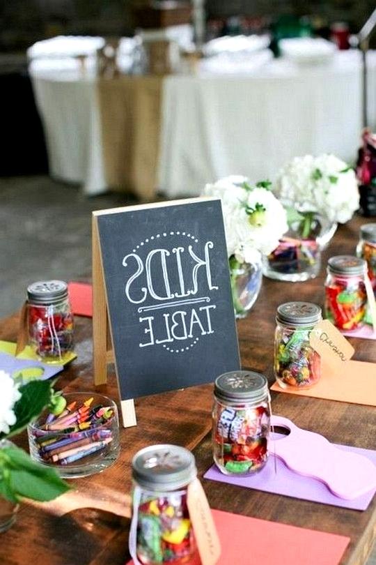children's tables wedding ideas