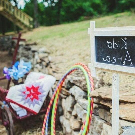kids area wedding ideas