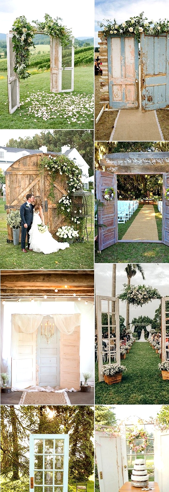 vintage rustic wedding decorations with old doors