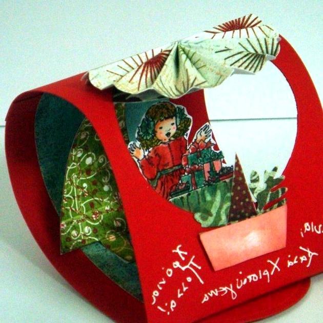 Folded 3D Christmas Card