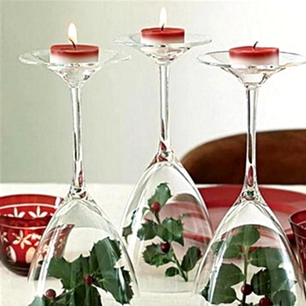 DIY Christmas Table Arrangement