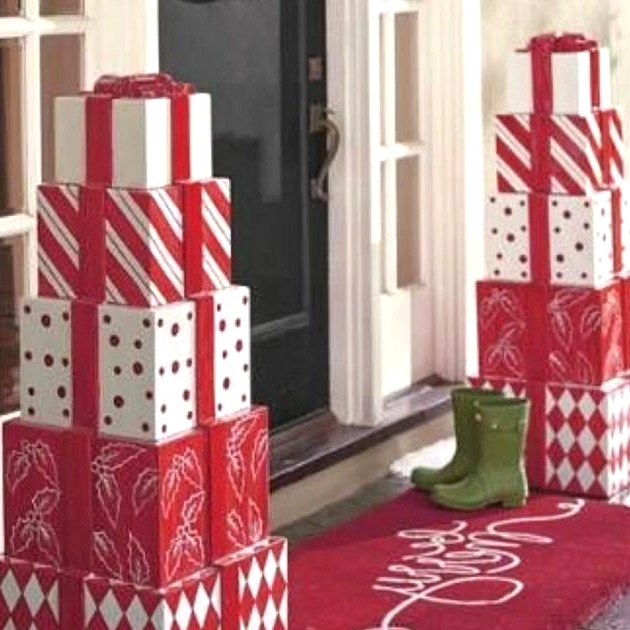 Christmas Themed Porch