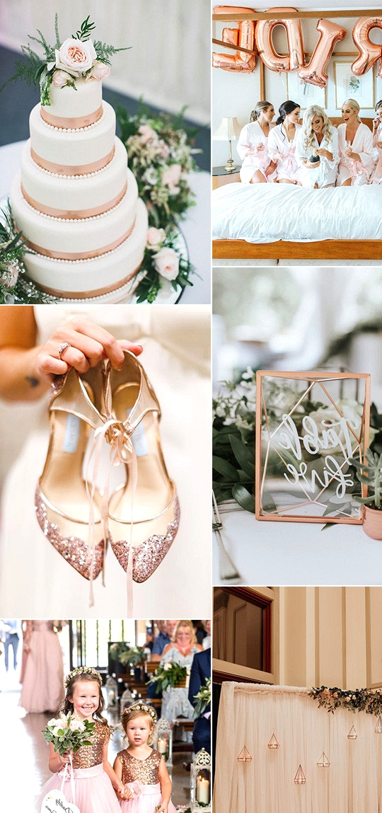 rose gold and greenery wedding ideas for 2020