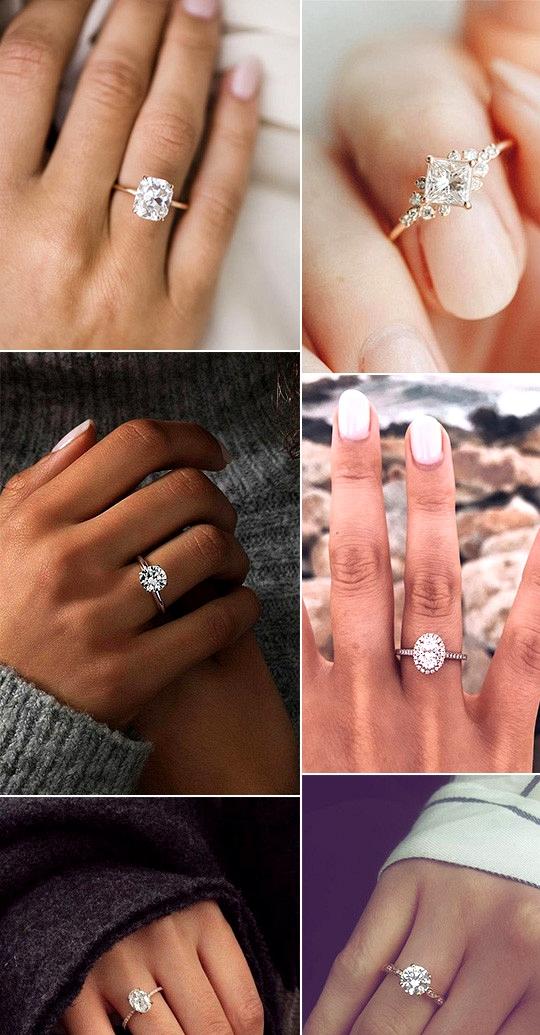 stunning rose gold wedding engagement rings