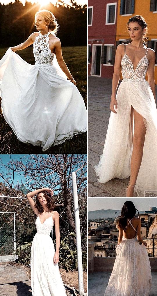gorgeous beach wedding dresses
