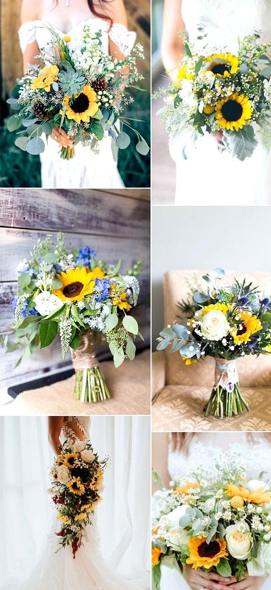 sunflower wedding bouquets
