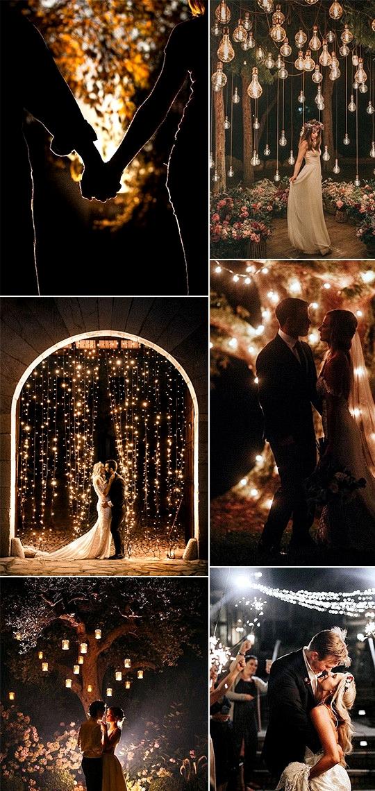 trending romantic night wedding photos for 2020