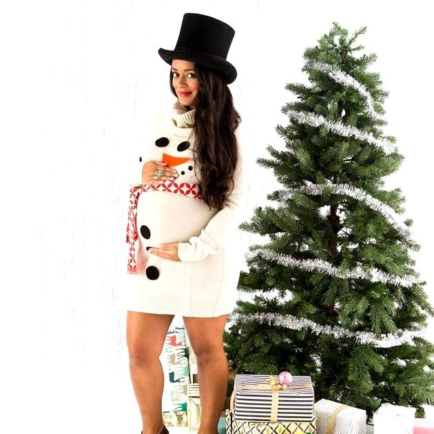 Snowman Christmas Sweater Dress