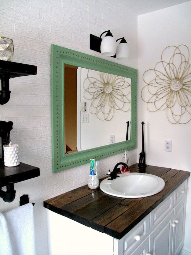 Modified bathroom vanity from a dressing table