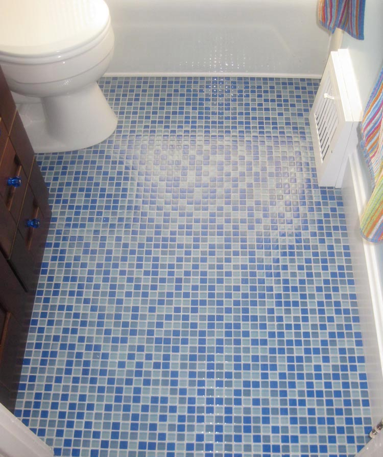 Mosaic floor tiles, the most popular option