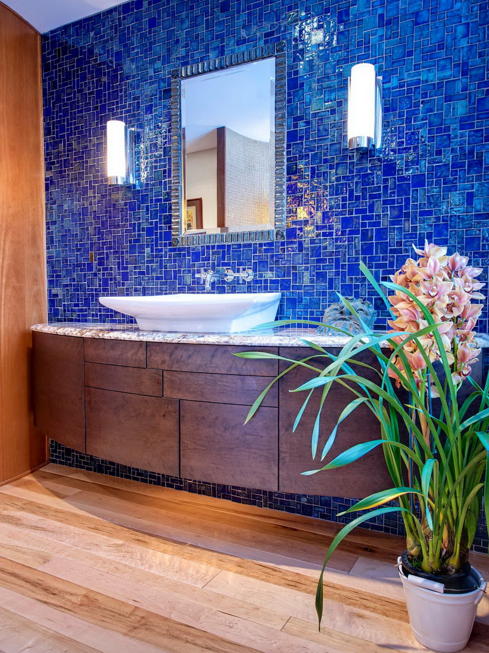 Blue Cobalt Tiles for the Walls