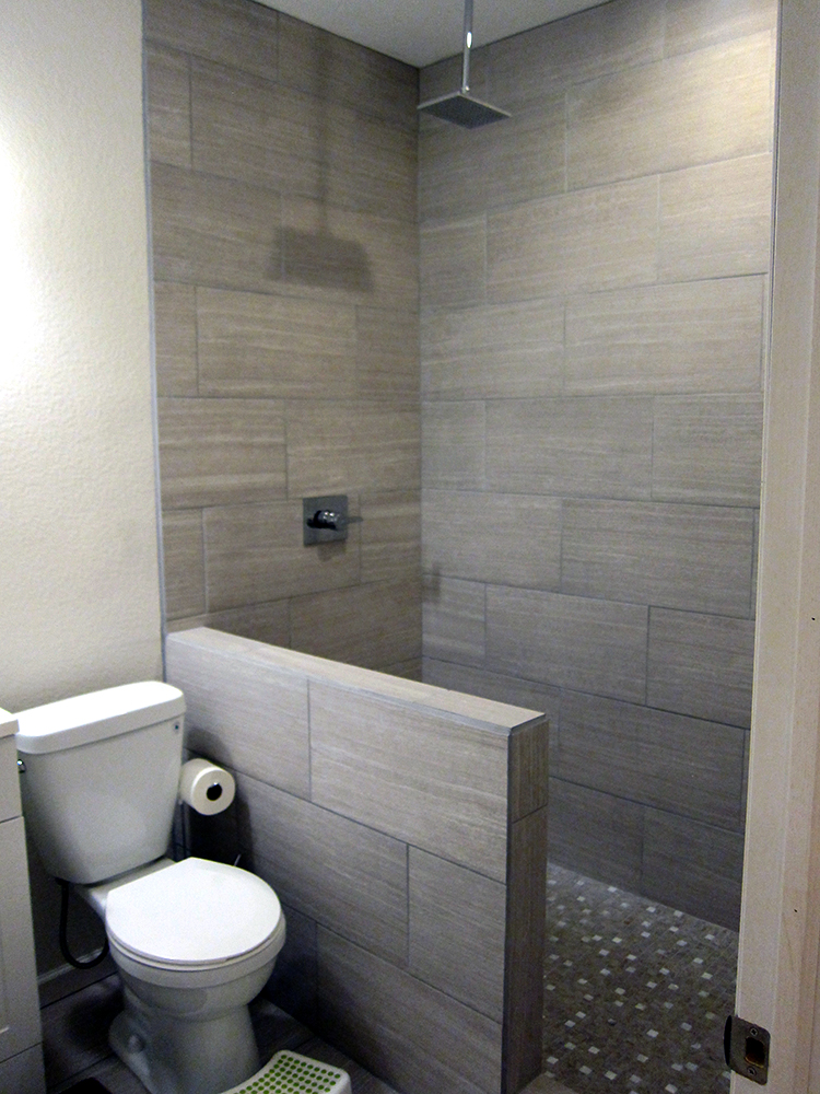 Tiled Shower Wall