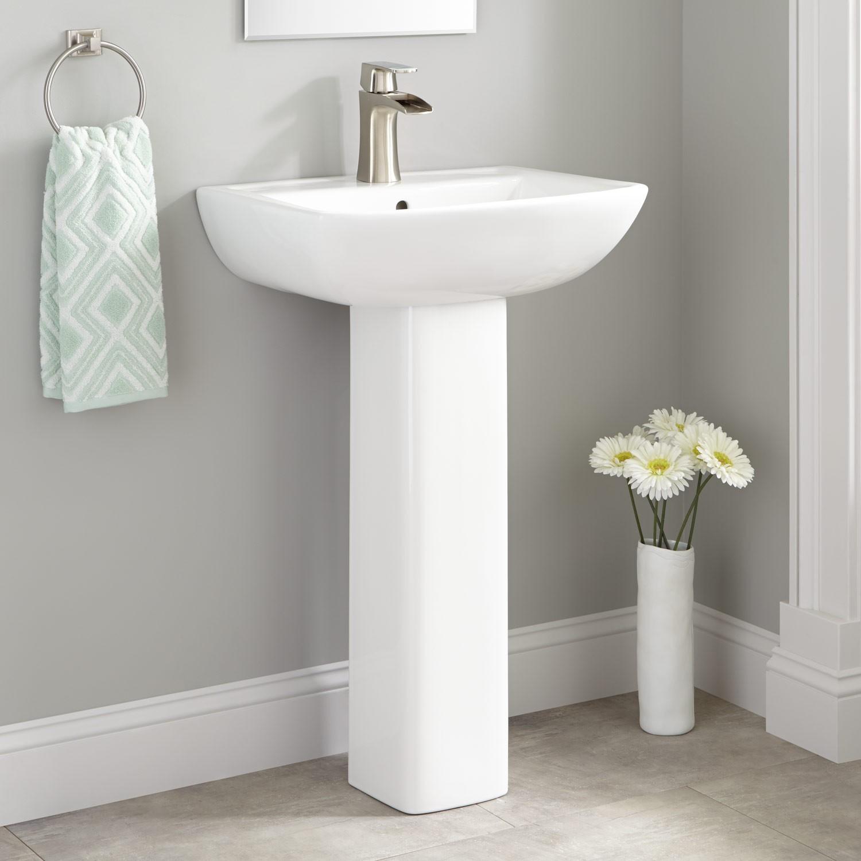 Pedestal Sink for a Small Bathroom