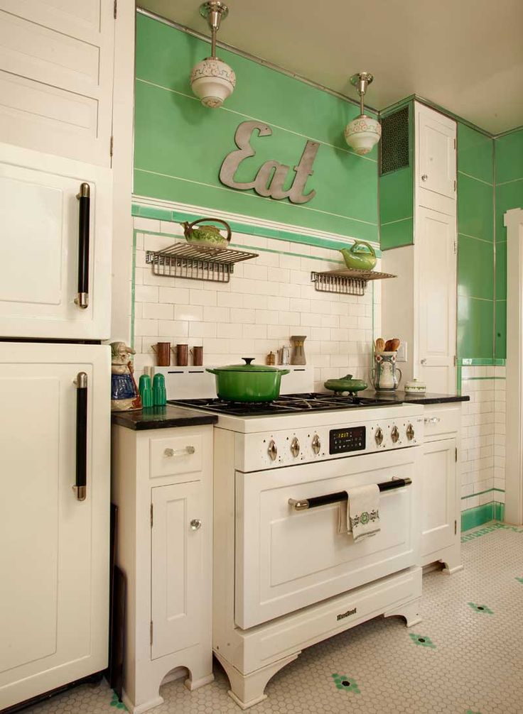Kitchen Decor with Retro Touch