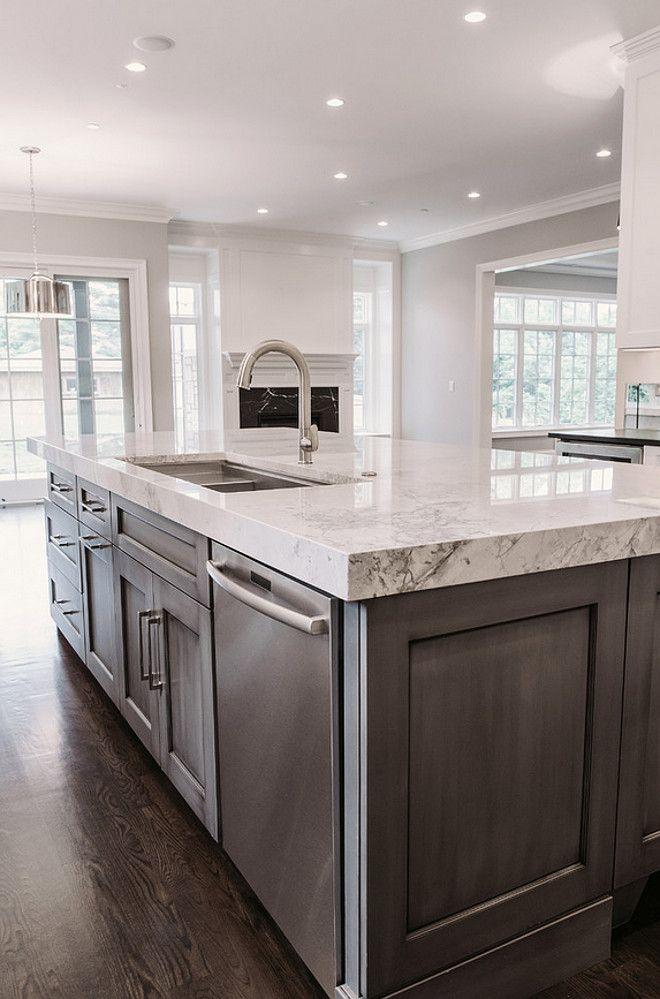 Luxurious Marble-Top Kitchen Island