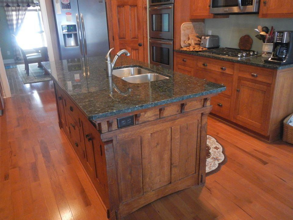 Handmade-Looks Kitchen Island