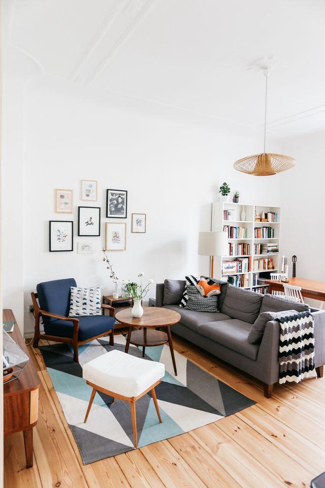 Geometric Mid-Century Modern Living Room Ideas