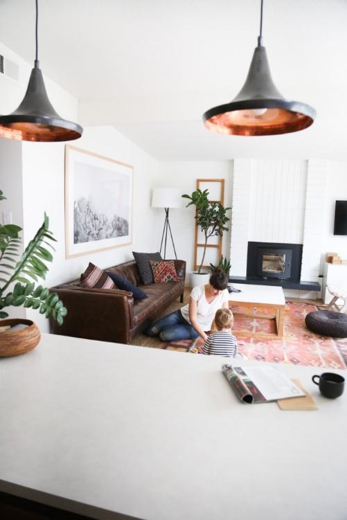 White Mid-Century Modern Living Room Ideas