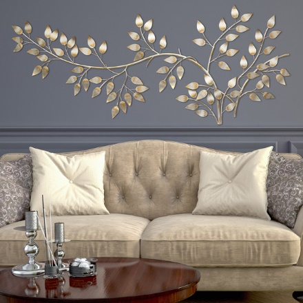 Gold Living Room Wall Decor Ideas