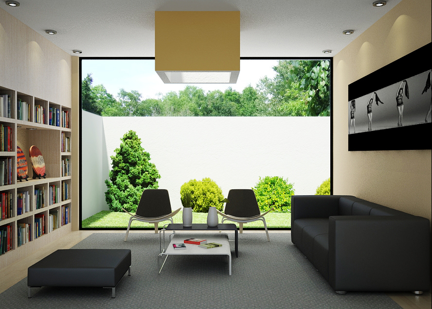 Garden View Small Living Room Ideas