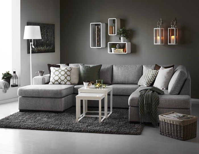 Mix gray with warmer shades