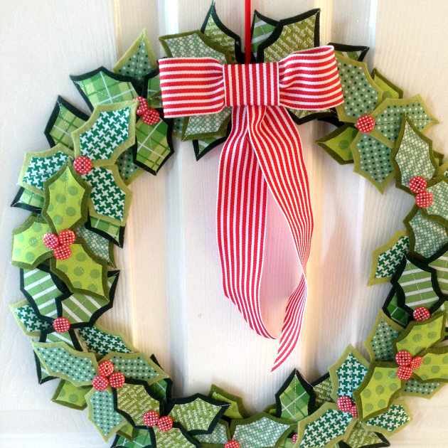 My Holly Christmas Wreath