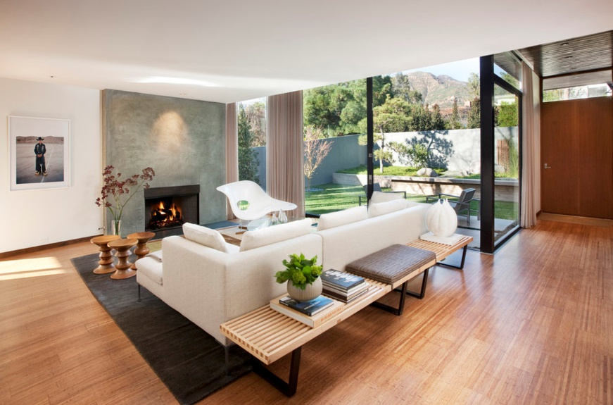 Wooden Mid-Century Modern Living Room Ideas
