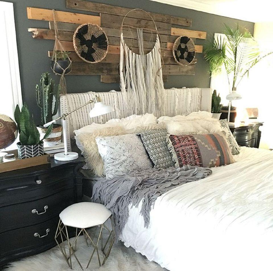 Boho bedroom design