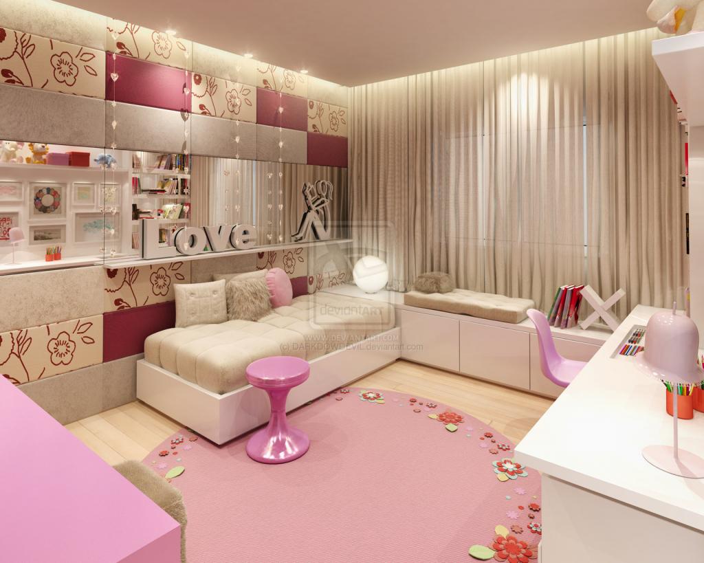 Interior Design Teenage Girl Bedroom