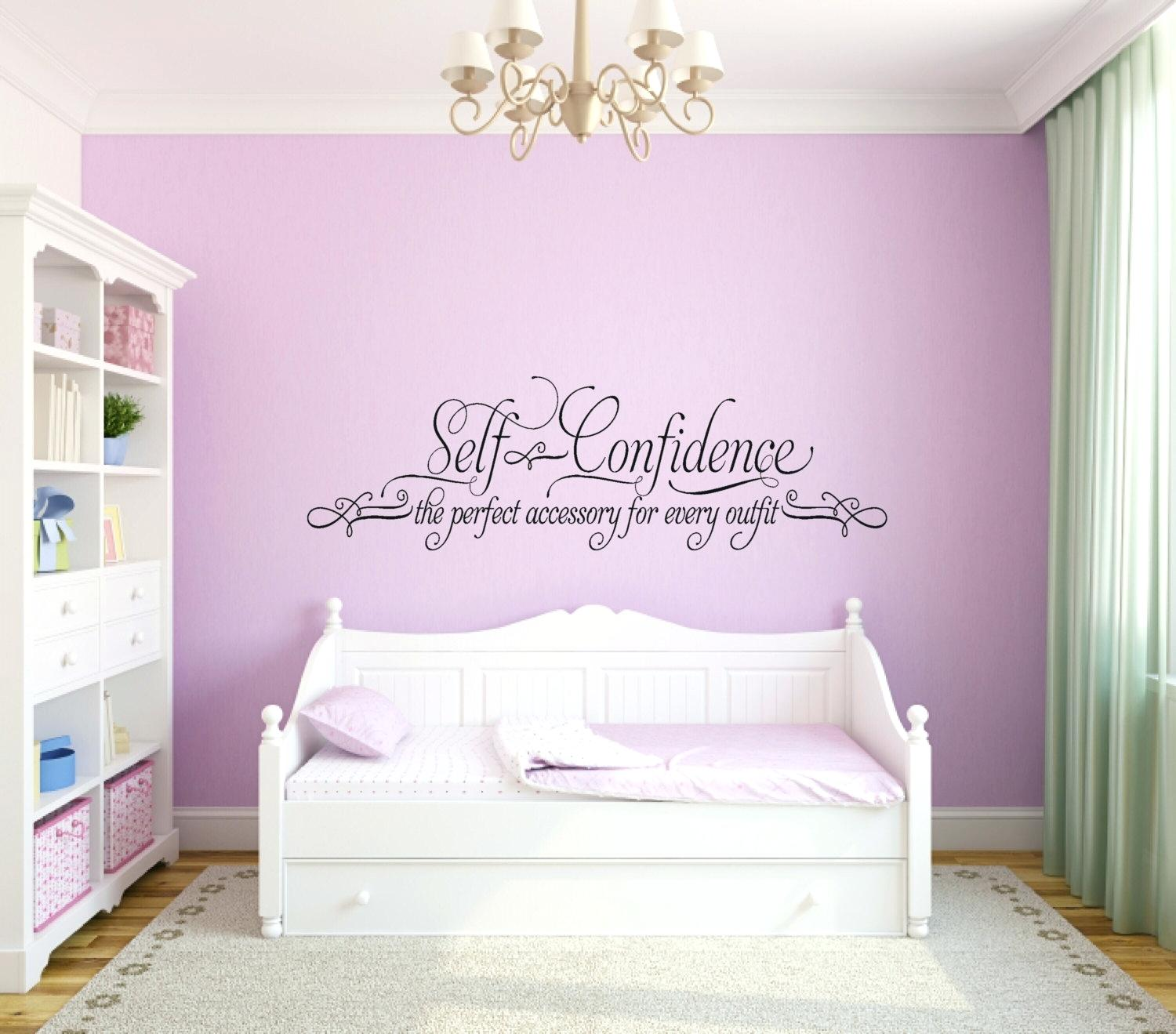 Teenage Girl Wall Quotes for Bedroom Idea
