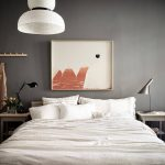 Grey bedroom with warm accents