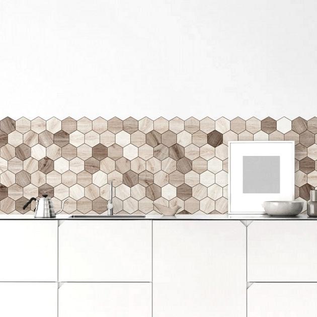 Hexagonal-tiles-of-nordic-woods