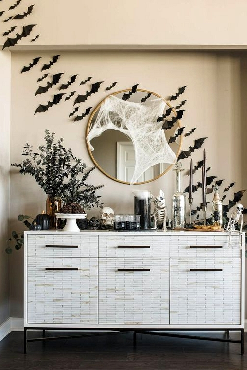 Decorative Scary Bats Wall Decal