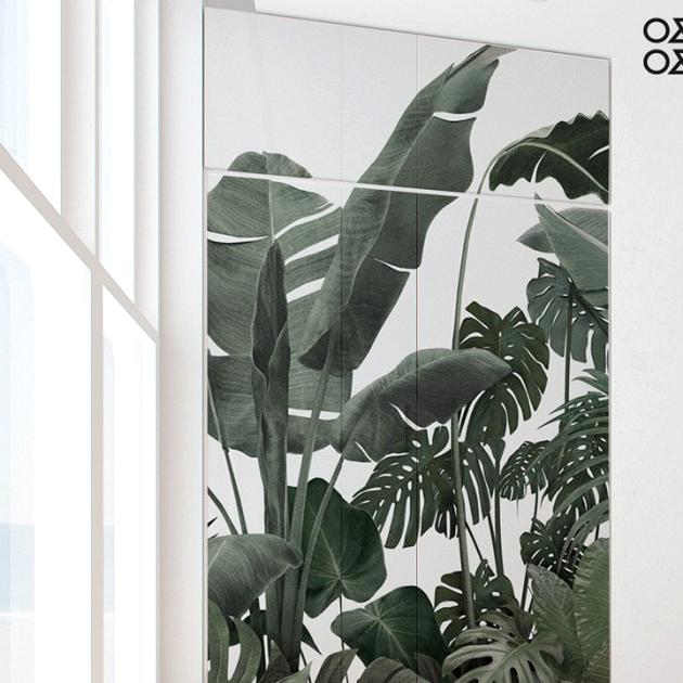 botanical-garden-green-gray-palm trees-banana-trees-monsteras-self-adhesive-washable-wall-kitchen-bathroom