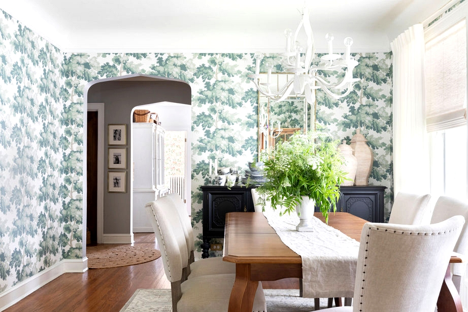 centered by design dining room wallpaper makeover with raphael sandberg wallpaper