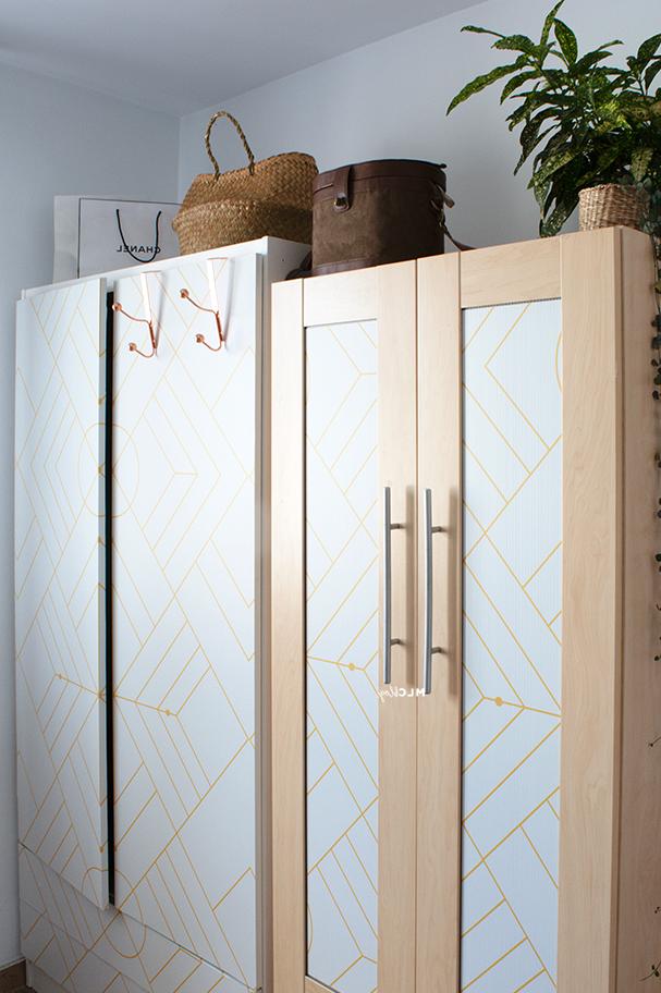 Closet-doors-lined-with-self-adhesive-vinyl-opaque-geometric-stone-warm-gray-lokoloko