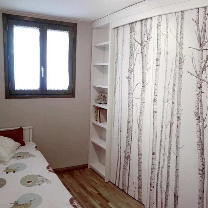 Renovate-built-in-wardrobe-with-wallpaper-the-nordic-forest-lokoloko