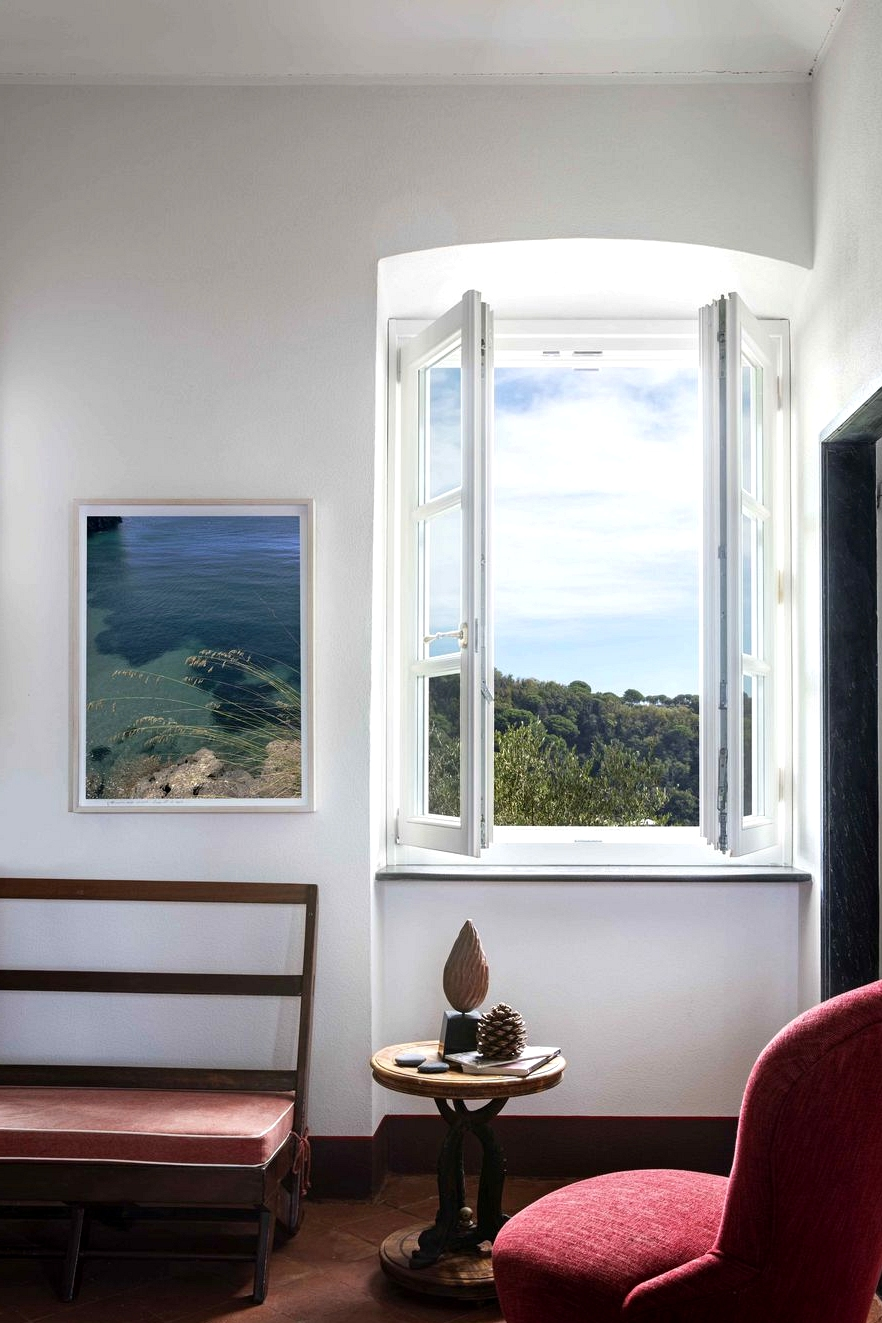 simplicity and a view in this quaint italian vacation home