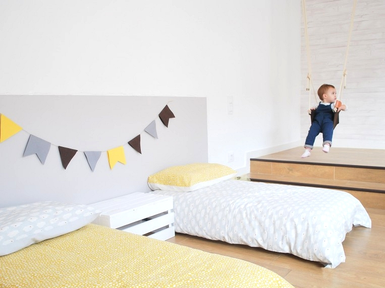 Headboard-of-bed-child-vinyl-washable-self-adhesive-color-light-gray-lokoloko